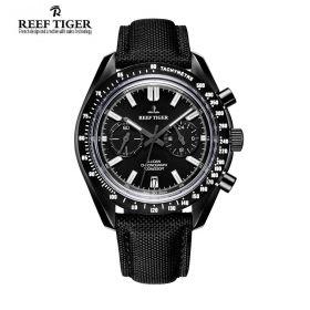 Aurora Illidan Black Dial Black PVD Quartz Men's Watch