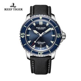 Aurora Deep Ocean Blue Dial Stainless Steel Automatic Mens Watch