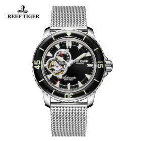 Aurora Sea Wolf Black Dial Stainless Steel Case Automatic Watch