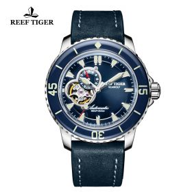 Aurora Sea Wolf Blue Dial Solid Steel Automatic Mens Watch