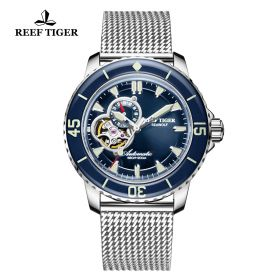 Aurora Sea Wolf Blue Dial Stainless Steel Case Automatic Watch