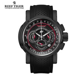 Aurora Top Speed Black PVD Black Dial Chronograph Mens Watch