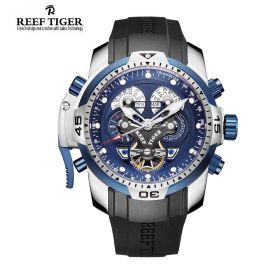 Aurora Concept Blue Dials Stainless Steel Case Men Complicated Watch