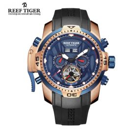 Aurora Transformer Blue Dial Black Rubber Mens Complicated Watches RGA3532-PLBR
