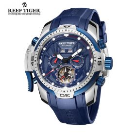 Aurora Transformer Blue Dial Blue Rubber Steel Complicated Watches RGA3532-YLBR