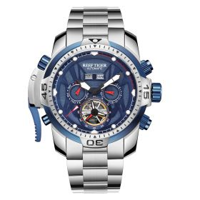 Aurora Transformer Steel Case Automatic Complicated Watches Bracelet Strap RGA3532-YLY