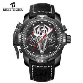 Aurora Concept II Black Steel Case Black Complicated Dial All Black Watch