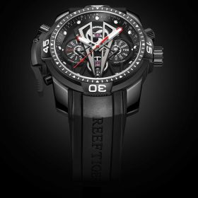 Aurora Concept II Complicated Dial Black Steel Case All Black Sports Watches RGA3591-BBBR