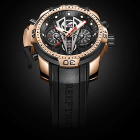 Aurora Concept II Rose Gold Case Black Complicated Dial Sport Watches RGA3591-R