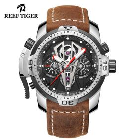 Aurora Concept II Dial Stainless Steel Case Brown Leather Watches RGA3591-YBC
