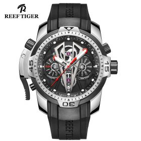 Aurora Concept II Black Complicated Dial Stainless Steel Case Sports Watches RGA3591-YBR