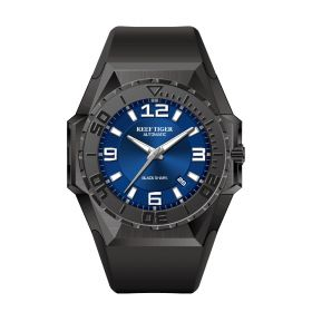 Aurora Black Shark Sport Watches Blue Dial Automatic Watch Rubber Strap Military Watches RGA6903