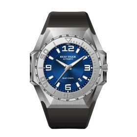 Aurora Black Shark Sport Watches Blue Dial Steel Case Automatic Waterproof Dive Watches RGA6903