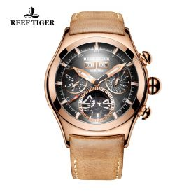 Aurora Air Bubble II Rose Gold Black Dial  Automatic Mens Watch