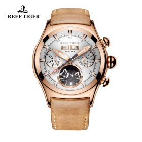 Aurora Air Bubble II Rose Gold White Dial  Automatic Mens Watch