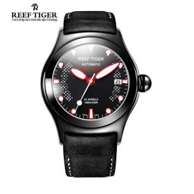 Aurora Ocean Speed Black Dial PVD Case Automatic Watch