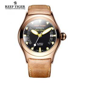 Aurora Ocean Speed Automatic Black Dial Rose Gold Watch