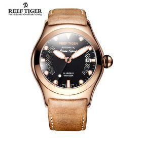 Aurora Ocean Speed Automatic Rose Gold Black Dial Mens Watch