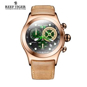 Aurora Dragon Black/Green Dial  Rose Gold Case Quartz Watch