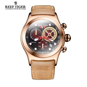 Aurora Dragon Black/Red Dial  Rose Gold Case Quartz Watch