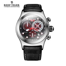 Aurora Dragon Black/Red Dial Steel Case Quartz Watch