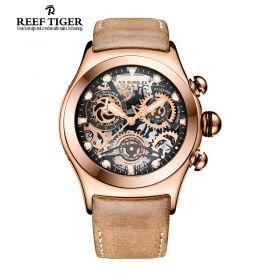 Aurora Big Bang Skeleton Dial RT685 Quartz Rose Gold Watch