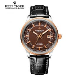 Classic Imperator Brown Dial Brown Calfskin Leather Automatic Steel Watch