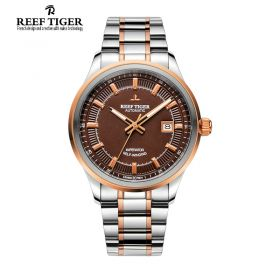 Classic Imperator Brown Dial Two Tone Case Men's Automatic Watch