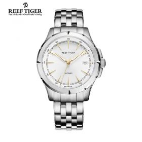 Classic Spirit Of Liberty White Dial Full Stainless Steel Automatic Dress Watch