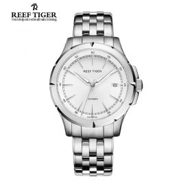 Classic Spirit Of Liberty White Dial Full Stainless Steel Mens Business Watch