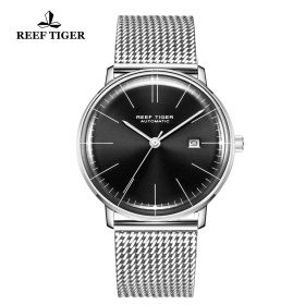Classic Legend Mens Stainless Stell Black Dial Automatic Watch
