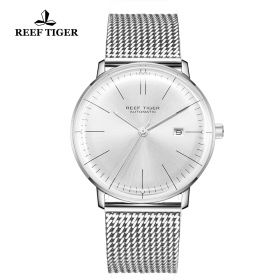 Classic Legend Mens Stainless Stell White Dial Automatic Watch