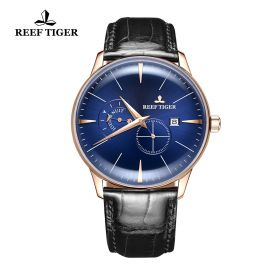 Classic Artisan Blue Dial Rose Gold Mens Automatic Watch