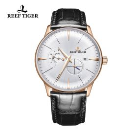 Classic Artisan White Dial Mens Rose Gold Automatic Watch