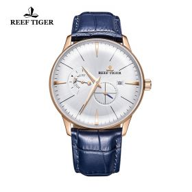 Classic Artisan White Dial Rose Gold Mens Automatic Watch