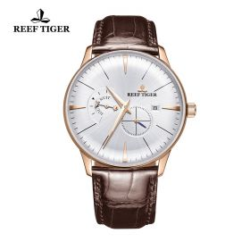 Classic Artisan Rose Gold White Dial Mens Automatic Watch