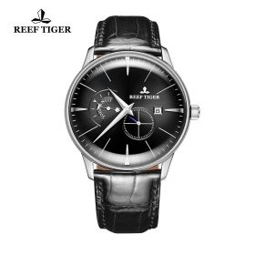 Classic Artisan Black Dial Steel Mens Automatic Watch