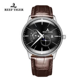 Classic Artisan Steel Black Dial Mens Automatic Watch