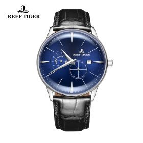 Classic Artisan Blue Dial Steel Mens Automatic Watch