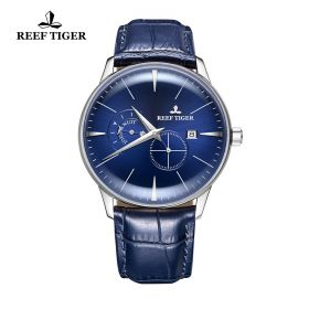 Classic Artisan Steel Blue Dial Mens Automatic Watch