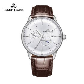 Classic Artisan Steel Mens White Dial Automatic Watch