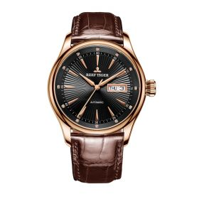 Classic Heritage II Black Dial Rose Gold Automatic Men's Watch