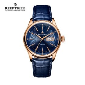 Classic Heritage II Blue Dial Rose Gold Automatic Men's Watch