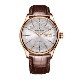 Classic Heritage II White Dial Rose Gold Automatic Men's Watch