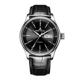 Classic Heritage II Black Dial Steel Automatic Men's Watch