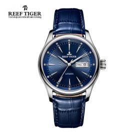 Classic Heritage II Blue Dial Steel Automatic Men's Watch