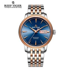 Classic Prophet Blue Dial Rose Gold/Steel Mens Automatic Watch