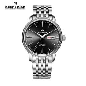 Classic Prophet Black Dial Stainless Steel Case Mens Automatic Watch
