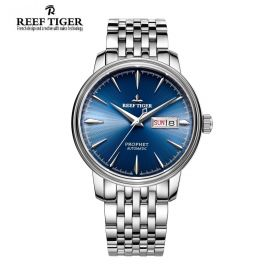 Classic Prophet Blue Dial Stainless Steel Case Mens Automatic Watch