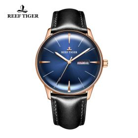 Classic Heritor BlueDial Rose Gold Mens Automatic Watch